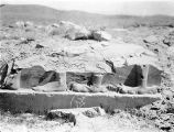 Iran, detail of ruins of stone relief at Audience Hall in Pasargad