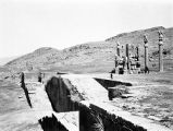 Marv Dasht (Iran), view of stairway and the Gate of Xerxes at Persepolis