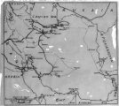 Iran, map of northern Iran noting travel route of Frederick G. Clapp
