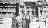 Ba'labakk (Lebanon), Frederick G. Clapp family portrait at ruins of ancient Roman city