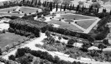 Jerusalem (Israel), aerial view of courtyard garden at King David Hotel