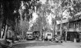 Rosh Pinna (Israel), street scene at customs post