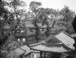 Beijing (China), aerial view of rooftops in Beihai Park