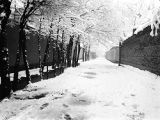 Tehran (Iran), Frederick G. Clapp's snow covered street