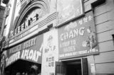 Hong Kong, façade of Queen's Theater in Victoria