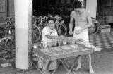 Cambodia, vendor selling goods in Phnom Penh