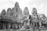 Cambodia, view of Bayon Temple at Angkor Thom