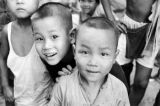 Hong Kong, portrait of smiling boys