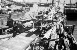 Hong Kong, materials on deck of blockade runner under construction