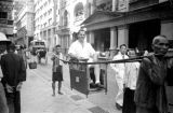 Hong Kong, Harrison Forman being carried in sedan chair
