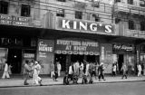 Hong Kong, Victoria street scene in front of King's Theater