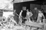 Hong Kong, members of The Argyll and Sutherland Highlanders at outdoor workshop