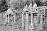 Cambodia, Royal Terraces elephant sculptures at Angkor Thom