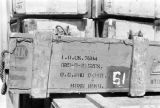 Hong Kong, crate at Royal Army Service Corps supply depot