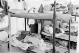 Hong Kong, bunk beds inside Royal Army Service Corps barracks
