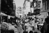 Hong Kong, outdoor market on commercial street