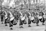 Cambodia, drummers at Royal Ploughing Ceremony in Phnom Penh