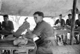 Hong Kong, members of The Argyll and Sutherland Highlanders in tent