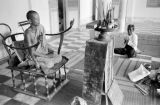 Cambodia, monk leading prayer at temple