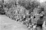 Cambodia, Asura sculptures along Angkor Thom South Gate