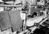 Hong Kong, close-up of cannon mounted on armored deck of blockade runner
