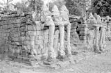 Cambodia, elephant sculptures at Royal Terraces of Angkor Thom
