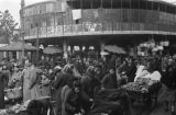 China, Harrison Forman at outdoor market in Shanghai