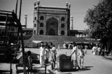India, vendors outside eastern gateway to Friday Mosque of Old Delhi