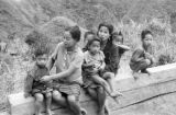 Philippines, women and children at Cordillera Central mountains in Banaue