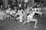Philippines, warriors at Headhunter Dance in Bontoc