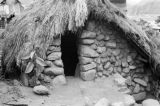 Philippines, Igorot hut entrance on northern Luzon island