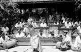 Indonesia, female dancer performing with orchestra in Bali