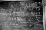 Indonesia, blackboard at Ruteng mission school