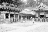 Japan, Yomei-mon gate and Shin-yo-sa at Toshogu Mausoleum in Nikko