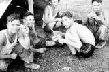 Vietnam, Vietnamese serving with French in First Indochina War at camp