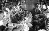 Vietnam, German and Vietnamese troopers being airlifted during First Indochina War
