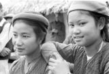 Vietnam, young women in Catholic village of Vinh Yen