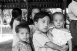 Indonesia, portrait of young children at dance performance in Bali