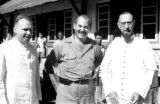 Indonesia, Harrison Forman with Bishop Willem van Bekkum and clergy at Ruteng