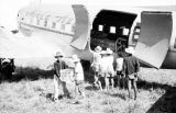 Vietnam, unloading cargo from airplane during First Indochina War