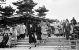 Japan, Tourists at Heian Jingu Shrine in Kyoto