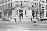 Japan, street scene in front of Pan American Airways building