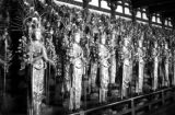 Japan, rows of idols inside temple