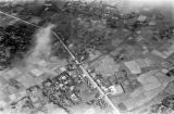 Vietnam, aerial view of villages and croplands