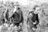 Vietnam, captured Viet Minh carrying radio for French Navy Commandos