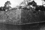Japan, fortress wall and moat surrounding Nijo Castle in Kyoto