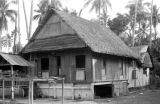 Indonesia, thatched roof home in Makassar