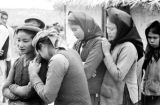 Vietnam, women gathered in Catholic village of Vinh Yen