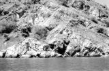 Indonesia, close-up of rocky island in the Lesser Sunda Island group