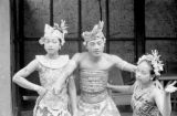 Indonesia, costumed dancers at performance in Bali